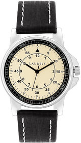 Laurels Vintage 1 Analog Ivory Dial Mens Watch - Lo-Vin-102