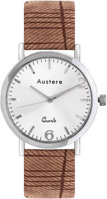 Austere Men Oxford Analog Silver Dial Mens Watch - MOX-0109