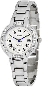 Austere Lady Analog Silver Dial Womens Watch - WL-0107