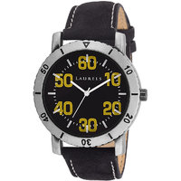 Laurels Furious Analog Black And Yellow  Dial Mens Watch - Lo-FRS-0202Y