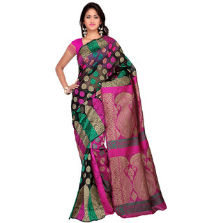 Sareemall Multicolor Tussar Silk Printed Salwar Suit Dress Material (Unstitched)