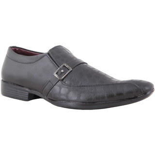 Chex MenS Black Formal Slip On Shoes (CHX801A)