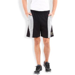 2Go Active Gear Usa Black/Greymel Sports Shorts Ec-Sh-10-Black-Greymel
