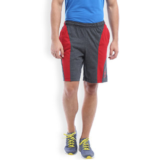 2Go Active Gear Usa Charcoal/Red Sports Shorts Ec-Sh-10-Charcoal-Red