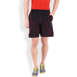 2Go Active Gear Usa Black/Red Sports Shorts Ec-Shs-21-Black-Red