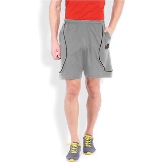 2Go Active Gear Usa Grey/Black Sports Shorts Ec-Shs-21-Grey-Black