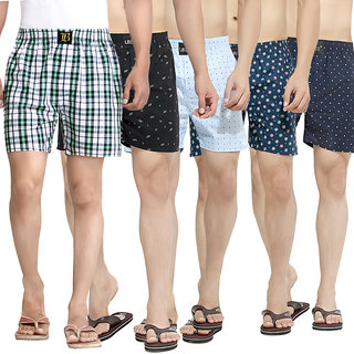 London Bee Mens Boxer Combo-9 Pack Of 5