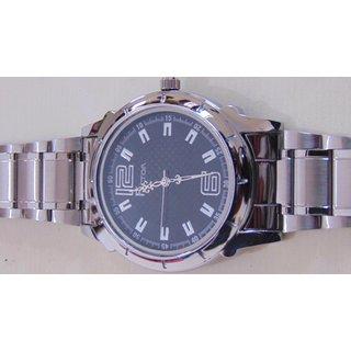 Factor Stylish Analog Silver Metal Wrist Watch - Men  1114
