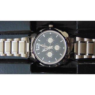 Factor Stylish Analog Silver Metal Wrist Watch - Men  1116