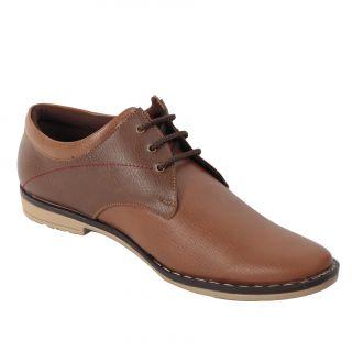 Look  Hook Brown Smart Casuals Shoes