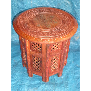 Wooden Side Octangle Table 15 inch