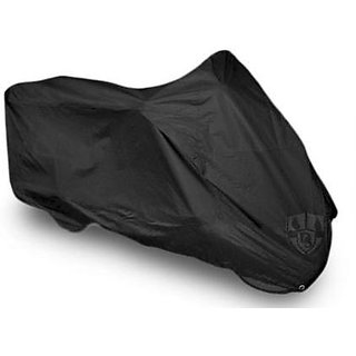 MP Universal Bike Body Cover Black Colour With Mirror Pockets For TVS VICTOR GX100