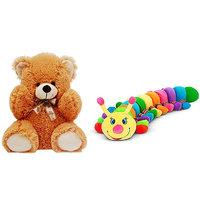 Tabby Toys Cute Teddy Bear-36cm & Catter piller-90cm