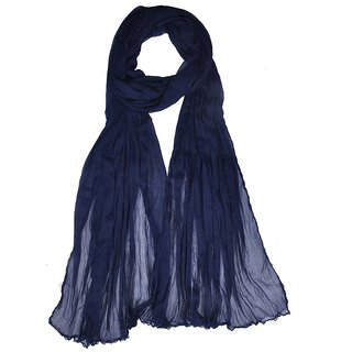 Shine Shopper CHIFFON DUPATTA BLUE PLAIN