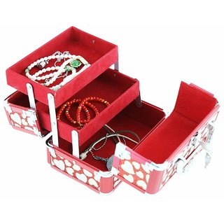 Phoenix International Red Vanity Box Cosmetics Beauty Jewellery Box by Kurtzy