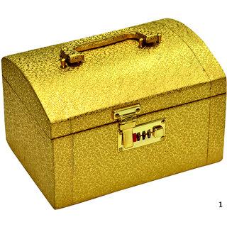 Phoenix International Golden makeup box / jewellery box / vanity box