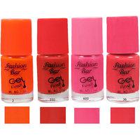 Fashion Bar 2 550 600 36 Nail Polish Combo,Multi Color, 20Ml,Pack Of 4