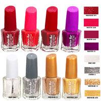 Fashion Bar F B N 94 Nail Polish Combo,Multi Color,40Ml,Pack Of 8