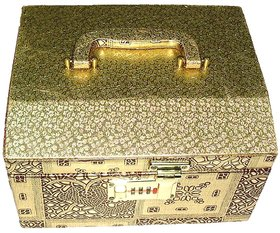 Phoenix InternationalGolden Make up Vanity Box/Bangle Box