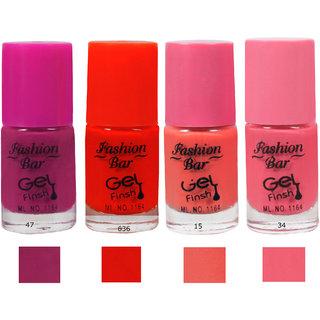 Fashion Bar 47 6369 15 34 Nail Polish Combo,Multi Color,20Ml,Pack Of 4