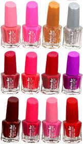 Fashion Bar Fb St Combo 24 Nail Polish Combo,Multi Color,60Ml,Pack Of 12
