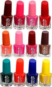 Fashion Bar Fb St Combo 28 Nail Polish Combo,Multi Color,60Ml,Pack Of 12