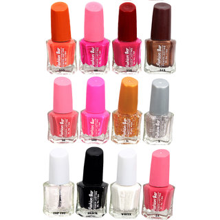 Fashion Bar Fb St Combo 18 Nail Polish Combo,Multi Color,60Ml,Pack Of 12