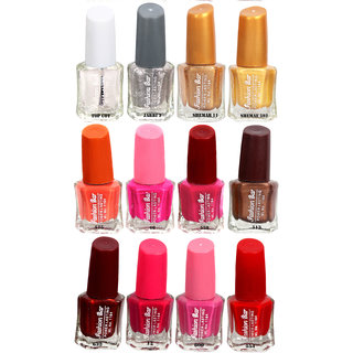 Fashion Bar Fb St Combo 26 Nail Polish Combo,Multi Color,60Ml,Pack Of 12