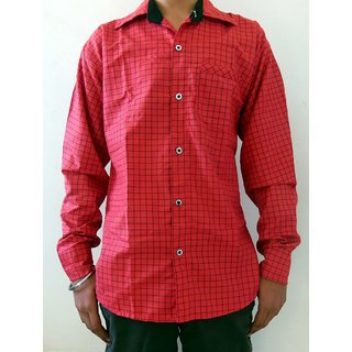 Men's Casual Shirts Red