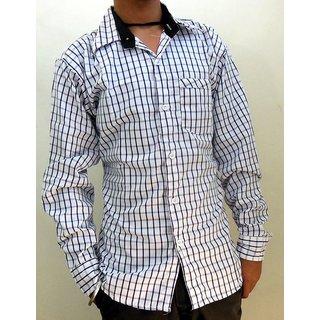 Men's Casual Shirts White & Purple