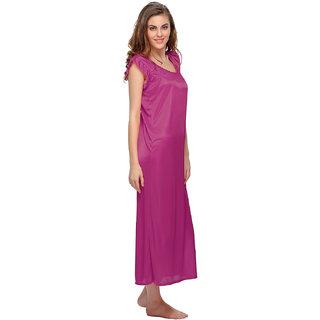 8137e4eb00 Buy Clovia Satin Nightie In Pink -Nsm282P14 Online - Get 60% Off