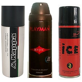 Summer Special  ICE Deo + PLAYMAN Deo + KAPPA Deo