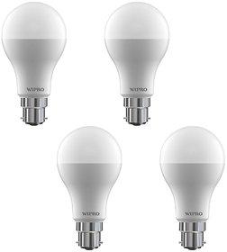 Wipro 7 W Led 6500K Cool Day Light Bulb (White, Pack Of 4)