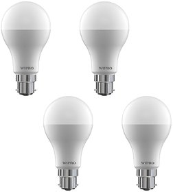 Wipro 9 W Led 6500K Cool Day Light Bulb (White, Pack Of 4)