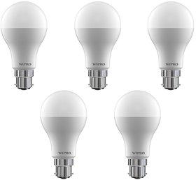 Wipro 9 W Led 6500K Cool Day Light Bulb (White, Pack Of 5)