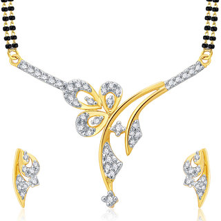 Sukkhi Sweety Gold And Rhodium Plated CZ Mangalasutra Set For Women
