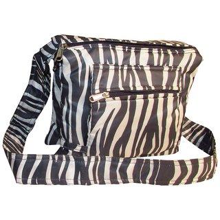 Indha Craft Designer Zebra Print Sling Bag