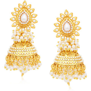 Sukkhi Gold Plated Alloy Jhumkis For Women