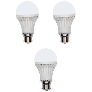Homelights 9W Cool Day Light Led Bulb (White, Pack Of 3)