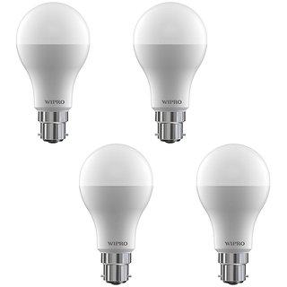 Wipro 14 W Led 6500K Cool Day Light Bulb (White Pack Of 4)