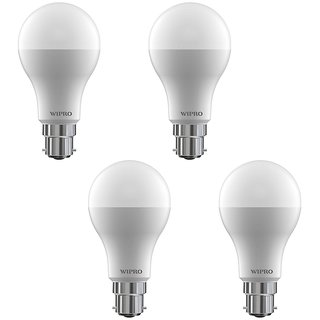 Wipro 9 W Led 6500K Cool Day Light Bulb (White Pack Of 4)