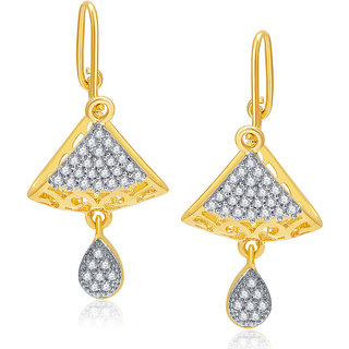 Sukkhi Exotic Gold And Rhodium Plated CZ Earrings For Women
