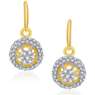 Sukkhi Splendour Gold And Rhodium Plated CZ Hoops For Women