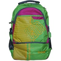 Gleam Mesh Padded School Waterproof Backpack         (Green, 17 inch)