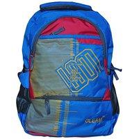Gleam Mesh Padded School Waterproof Backpack         (Blue, 17 inch)