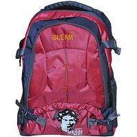 Gleam Mesh Padded School Waterproof Backpack         (Red, 17 inch)