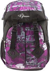 Gleam Mesh Padded School Waterproof School Bag         (Purple, 17 inch)