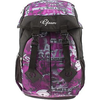 Gleam Mesh Padded School Waterproof School Bag         (Purple, 17 inch)