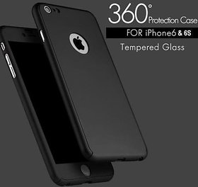 ORIGINAL iPAKY360 Degree Hybrid Front Back Cover Case For   6/6S-Black