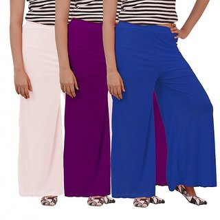 Carrol Womans Plazzo (White,Purple,Blue)